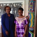 Dr. Lucy Reuben with Prof. Gillian Marcelle in South Africa
