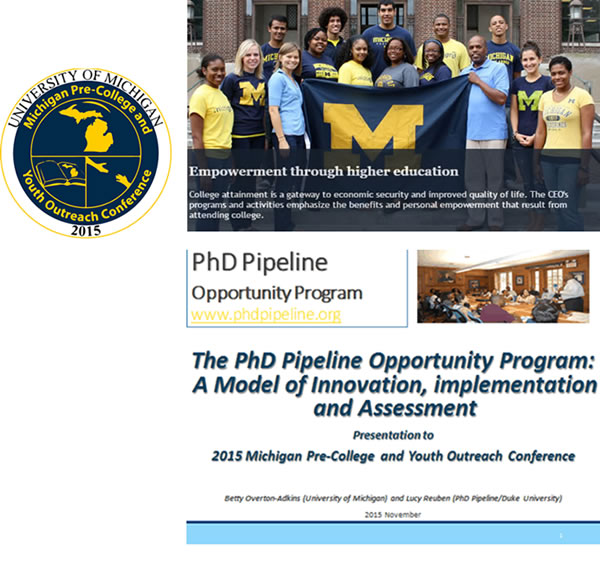 PhD Pipeline at UM Conference